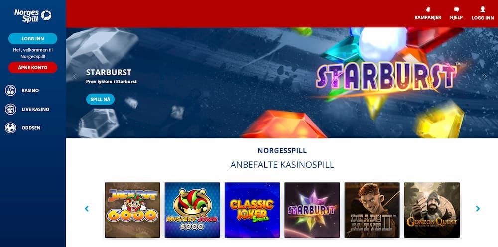 Norgesspill Casinospill